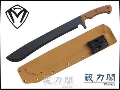 《藏刀閣》MEDFORD-(Machete)卡其色G10柄黑刃手工開山刀