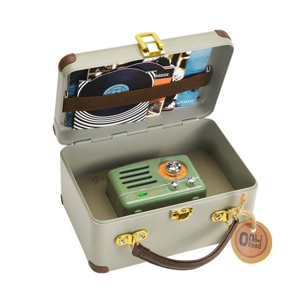 F.R.O.G.S K40154-1復古綠MAO KING小王子收音機復古音箱戶外便攜手機無線藍芽迷你音響喇叭-現貨特價