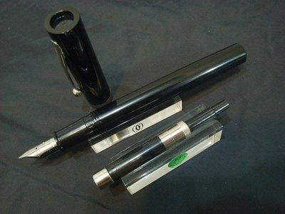 早期美國西華Sheaffer No Nonsense黑色銀夾鋼筆(非萬寶龍派克百利金)附吸墨器