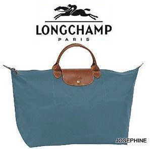 喬瑟芬【LONGCHAMP】出清~鴨藍 Duck Blue*434 折疊系列 L/大型 *162408短柄 手提包