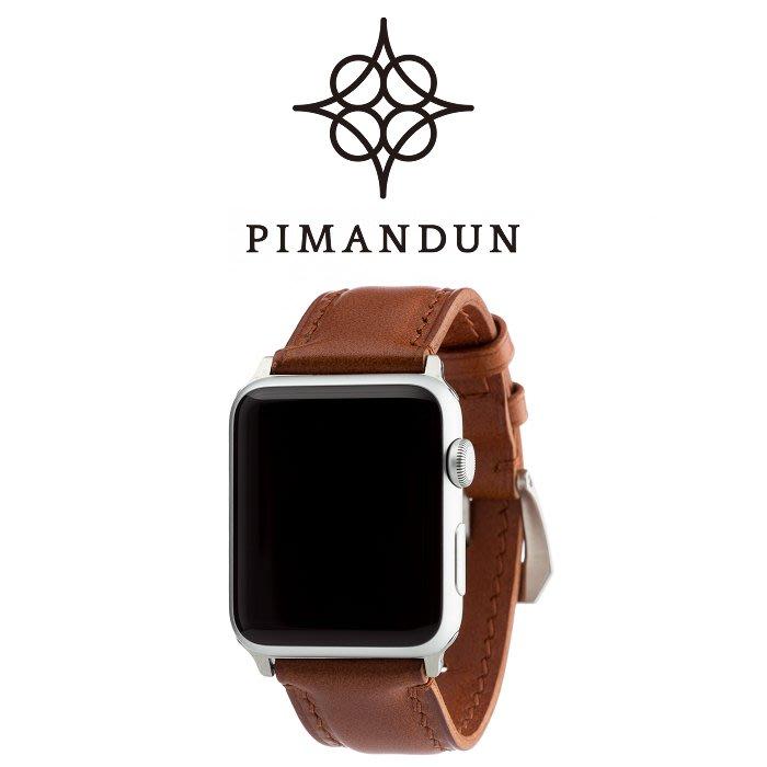 【皮曼頓】Apple Watch 漸層系列-赫爾棕 42mm/44mm 24mm手工錶帶 蘋果手錶1234代