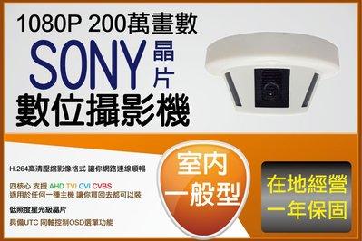 室內型 低存在感 低照度 星光級 SONY 晶片 1080P AHD 偵煙型攝影機 無防水功能 廣角最高 2.8MM