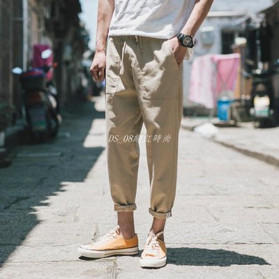 DS_08網紅時尚卡其褲Man Trousers Casual Pants Fashion Mens Chino Khakis 男