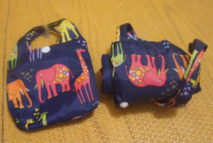 出清特賣 - (幾乎全新) 日本購入品質優 - 大象圖案的環保購物袋