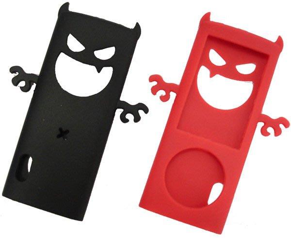 《鬼月破盤》Q-Max 小惡魔矽膠保護套(Nano 5代專用)買一送一,只剩紅色,蘋果iPod果凍套.