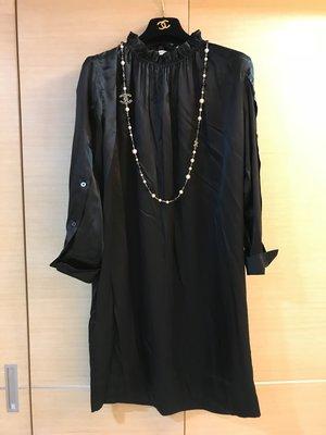 竇騰璜張李玉菁全新黑色絲質洋裝