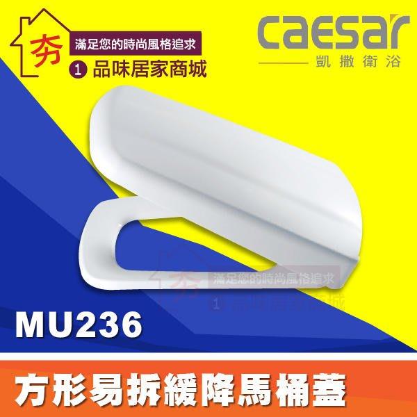【夯】Caesar 凱撒衛浴 配件 MU236 方形馬桶蓋 易拆 緩降功能 馬桶座 (孔距14.5CM) 純白