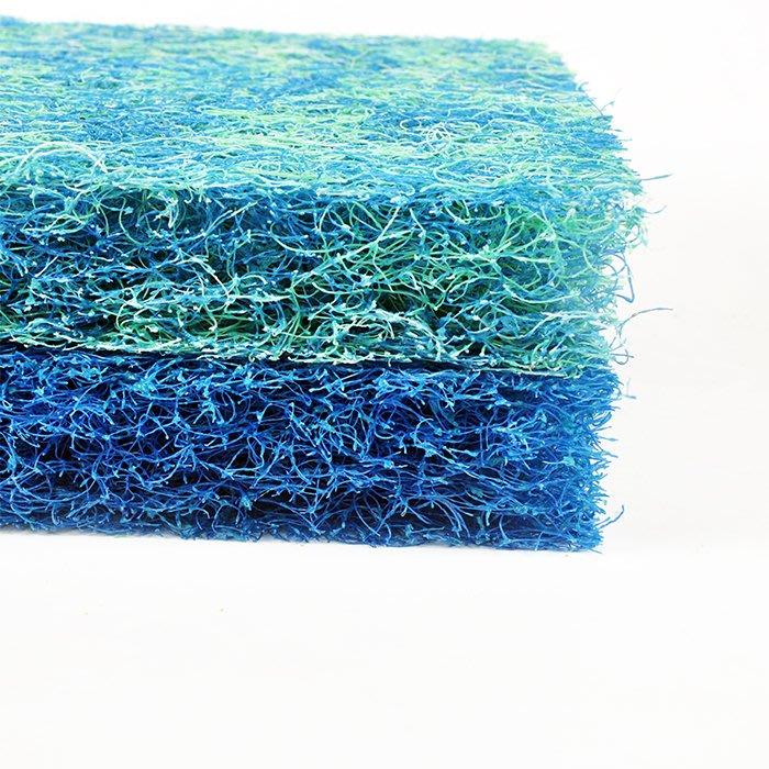 魚池過濾藤棉粗線棉超強培菌棉 生化棉過濾材料三色純藍池塘藤棉