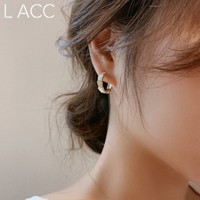 鹿爾飾物韓國925銀針圓圈耳環加粗款耳圈情侶日常百搭基礎款耳釘2020新款