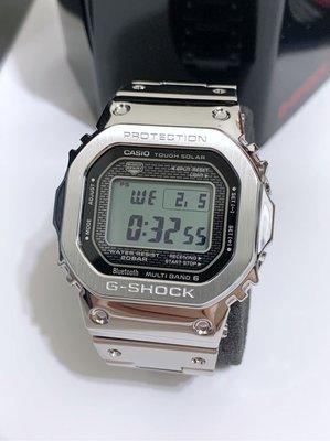 全新 G-Shock 藍芽 不鏽鋼錶 銀色 GMW-B5000D-1 木村拓哉 著用