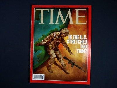 【懶得出門二手書】英文雜誌《TIME 2003.09.01》IS THE U.S. STRETCHED TOO THIN?│(21F22)
