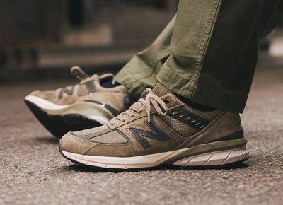 美國製 New Balance 990 / 新百倫 NB 美產 M990AE5 灰綠色 沙漠棕 反光 麂皮 慢跑 男女鞋