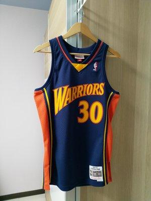 美國帶回 全新含吊牌S號 Curry 新人年復古經典款 NBA勇士Mitchell&Ness Swingman