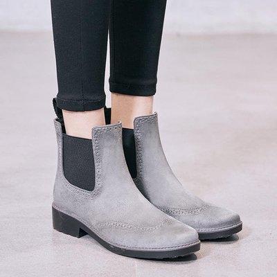 面水鞋女防滑雨靴成人短筒膠鞋韓國時尚雨鞋防水鞋   全館免運