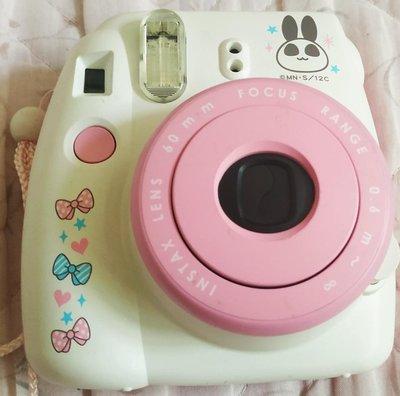 九成新Fujifilim Mini 8卡通粉色拍立得相機(還有小熊維尼黃色)加三百加購兩盒底片
