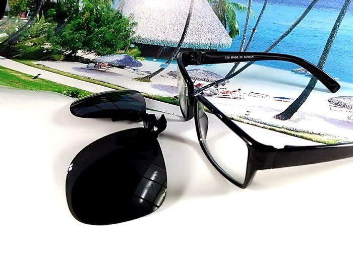 天王星 偏光太陽眼鏡夾片 飛行員款(方) 55MM 掛式太陽眼鏡  偏光夾片/ 夾式太陽眼鏡 今夏必備 開車 休閒必備