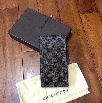 LV  N60825  咖啡 棋盤格紋 對折多卡 長夾