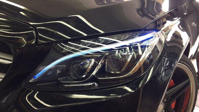 小傑車燈-進化升級版BENZ W205原廠中階版單魚眼大燈升級原廠高階版雙魚眼LED大燈 轉向大燈 再免費升等一抹藍光