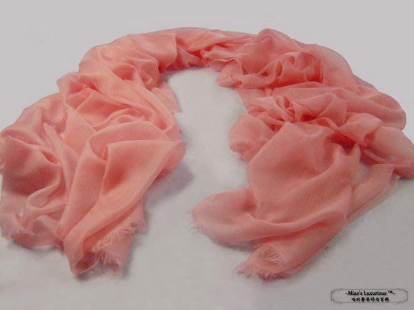 100% cashmere 密桃粉--頂級300支pashmina Shahmina全賣場同價位任選2件4000送洗劑