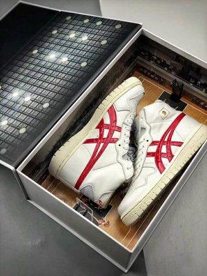 【H-SHOP】Asics tiger 19年新款白紅三井壽高筒復古籃球男女鞋*EU36~47。S90601