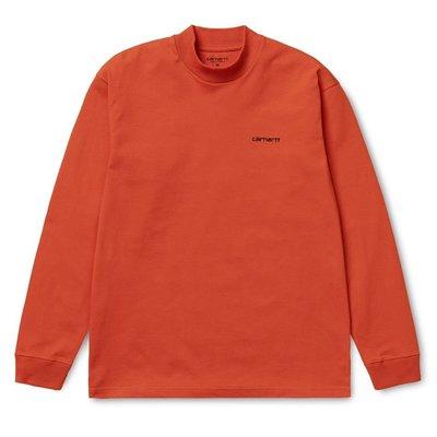 日本代購 Carhartt WIP FW19 L/S Mock Neck Script Embroidery T-Shirt 三色(Mona)