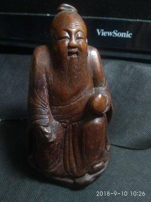 【竹雕館】~  老竹雕 東方朔 私房玩具