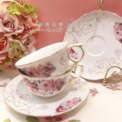 骨瓷咖啡杯盤組--花開富貴骨瓷兩杯兩盤...