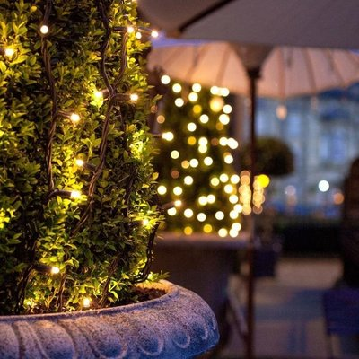 太陽能燈串家用戶外led防水燈節日彩燈閃燈串燈花園庭院裝飾燈串--潮流前線