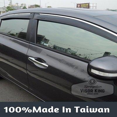 【Visor King 晴雨窗 】Nissan Rogue 鍍鉻飾條晴雨窗