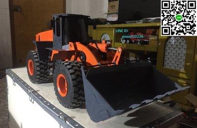 全金屬 合金 模型 遙控 液壓 搖控 油壓 輪型 裝載機 推土機 工程車(空機)