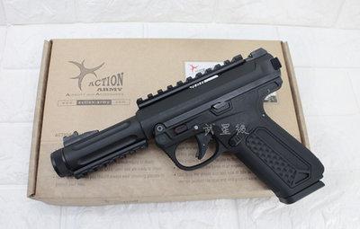 台南 武星級 Action Army AAP-01 瓦斯槍 黑 魚骨版 ( 上下槍身戰術魚骨GBB槍BB槍BB彈玩具槍