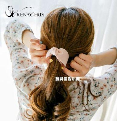 BHI1424-法國品牌RenaChris 韓國布藝漂亮純色蝴蝶結髮夾 馬尾夾 香蕉夾【韓國製】
