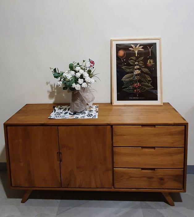 幸福家傢俱 柚木收納櫃 餐邊櫃 英式餐櫃 (SOD-06)