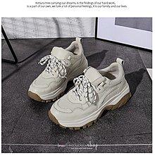 🎀EmmaShop艾購物-秋冬正韓真皮厚底運動鞋底老爹鞋/包鞋/休閒鞋