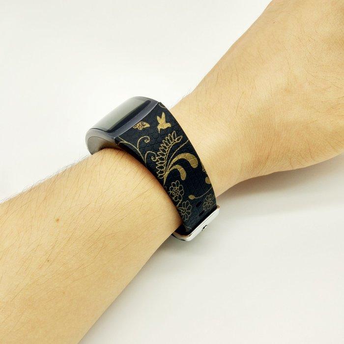 三星Gear Fit 2 錶帶 智能手環帶 R360替換腕帶 環保硅膠 彩繪印花 時尚簡約 不鏽鋼扣 運動型錶帶