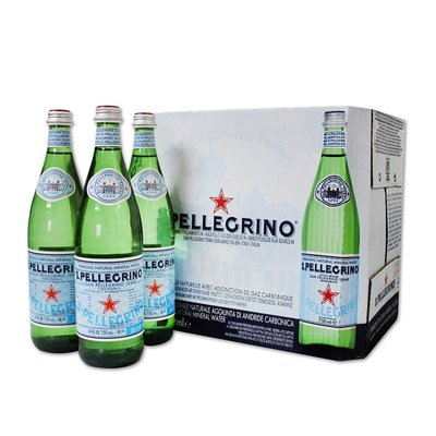 聖沛黎洛 天然氣泡水 750ml 12瓶 San Pellegrino Sparkling Water