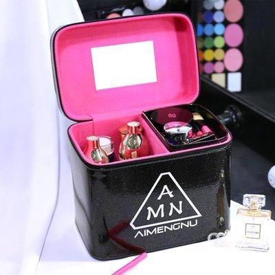 化妝箱 女便攜大容量多功能簡約手提化妝品收納盒化妝包