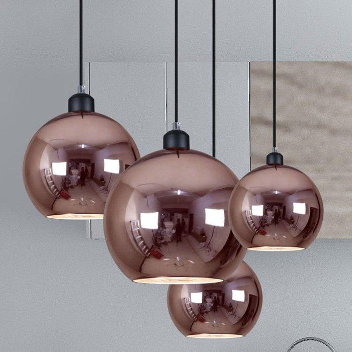 【58街】義大利燈具「紅銀珠吊燈 」美術燈。複刻版。GH-553