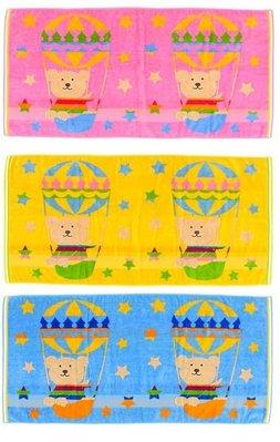 尼德斯Nydus~* 日本正版 彩虹熊 Rainbow Bear 浴巾 大毛巾 熱氣球 120cm 100%純棉-日本製