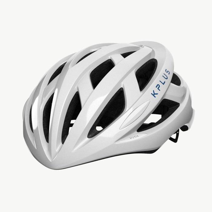 【三鐵共購】【KPLUS】VITA S系列一般色公路競速單車安全帽-白 / 藍