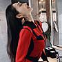 台北當日出貨〔女裝現貨館〕性感法式拉鍊針織包臀長袖連身過膝長洋裝.禮服(紅/藍6090)發票含稅