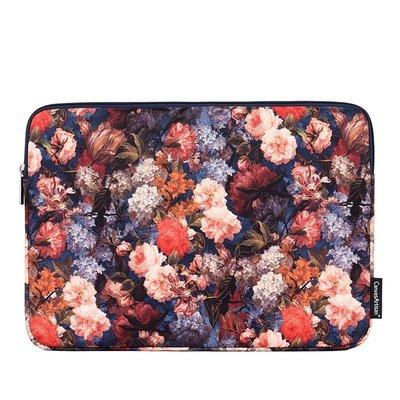 手拿包帆布電腦包-彩色花卉印花加絨女包包73vy25[獨家進口][米蘭精品]