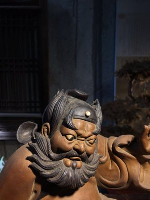 ㊣姥姥的寶藏㊣佛山拍賣會回流藏品 老件石灣陶  八十年代石灣大師親力親為打造的一尊精品鍾馗