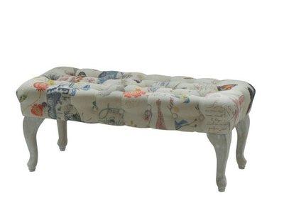 歐式仿古時尚床尾椅