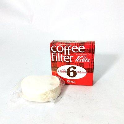Kalita 咖啡濾紙 圓形 No.6 100張入