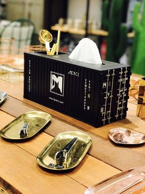 New!!特製鋼版貨櫃面紙盒+收納盒 年終出清