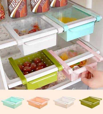 【贈品禮品】A3802 冰箱懸掛夾式收納盒/日式冰箱收納盒/食品飲料抽屜式儲物盒/收納盒/整理籃/雞蛋盒/玻璃桌/懸掛式