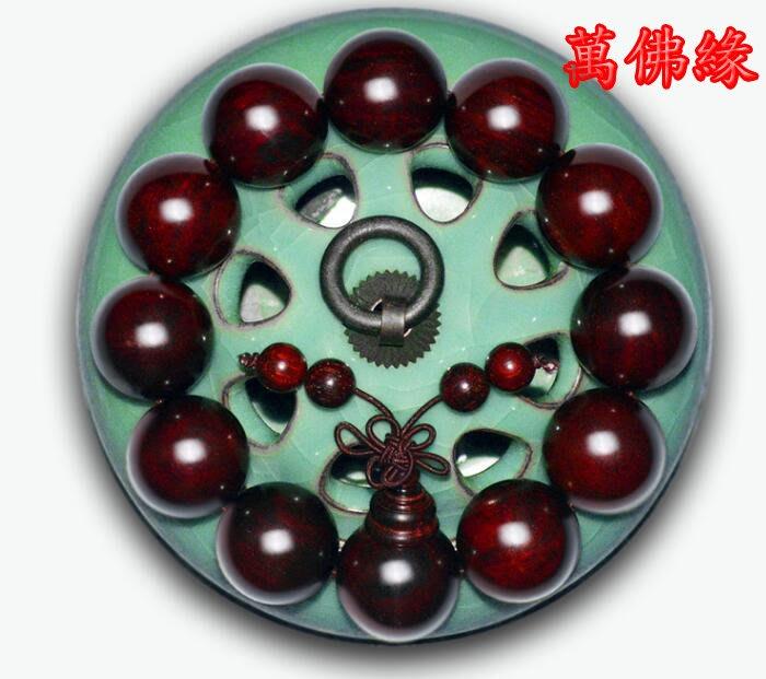 【萬佛緣】小葉紫檀手串 男士正宗印度野生老料順紋佛珠手鏈2.0女情侶念珠
