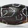 W菩多佛教文物A1-千年以上歷史特殊圖騰印度崩系老天珠