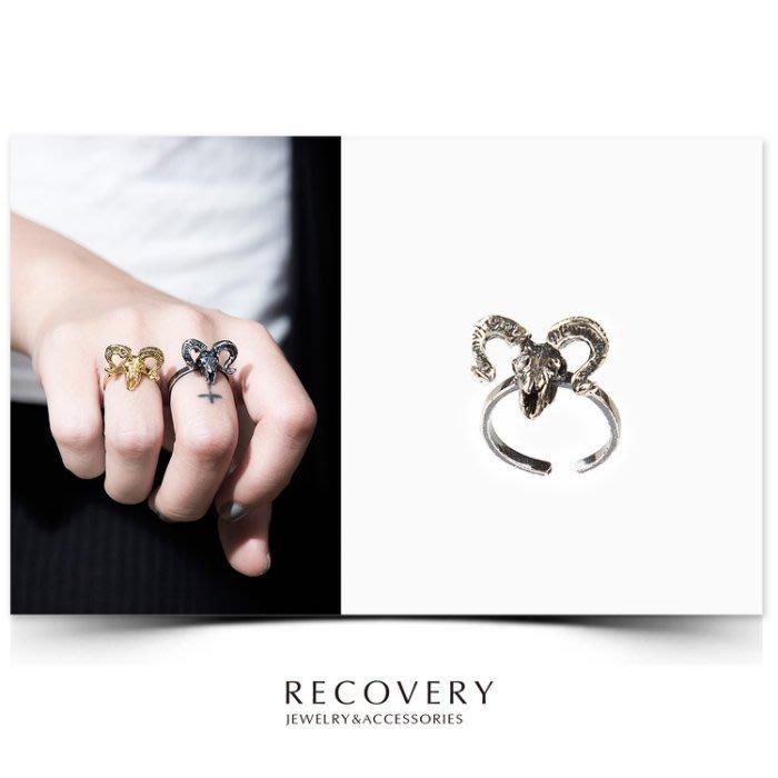 美國東村【Recovery】Argali Skull Ring  羊頭骨 戒指 (亮金/古銀)